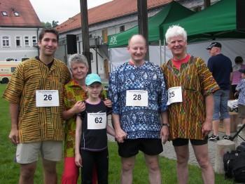 Die stolzen Läufer für Ghana