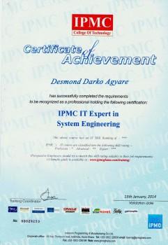 desm IPMCCertificate ITExpert14