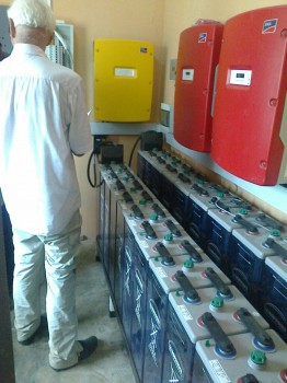 Lothar im Batterieraum