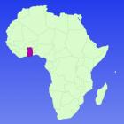Karte Afrika mit Ghana