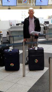 Lothar Ortmann am Flughafen